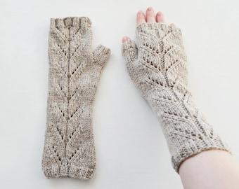 Grey Mittens (fingerless gloves, arm warmers)