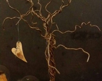 Customize Your Own Tree of Life wire sculpture on old Barnwood