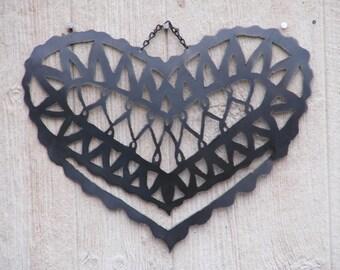 Plasma Cut Steel Heart