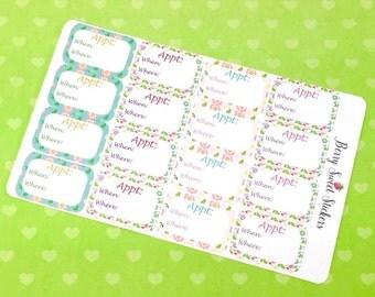 Appointment Planner Stickers Erin Condren Life Planner Stickers, Kikki K, Plum Paper, Filofax, Happy Planner