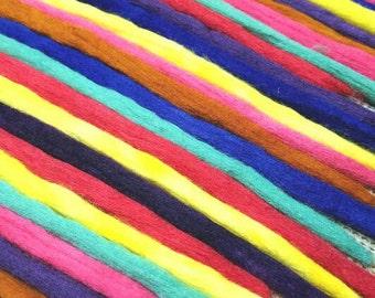 Wool Dreadlocks Custom Wool Dreads Handmade Hippie Dreads Hair Extensions Wool Dreads Ombre Hair Accessories Set of 40