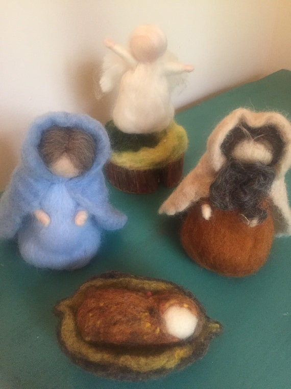 Woolen Felted Nativity