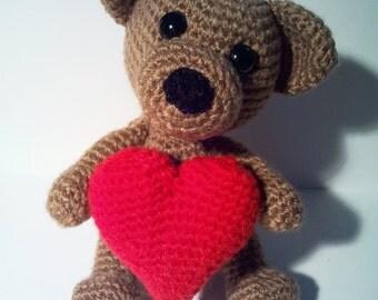 """""""Teddy love you PDF crochet pattern - pattern"""""""