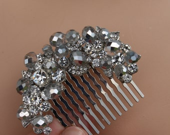 Shabby Chic Flower Bridal Hair Comb
