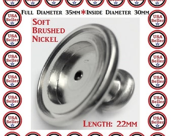 12 Drawer Knobs Blank Bezel Tray Kitchen Knobs DIY Project Add Your Own Graphic Customize Your Own Decor Dresser Knob 30MM Glass Dome Insert