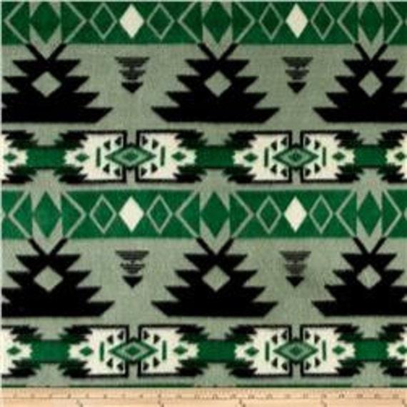 1 Set of Black/Green Navajo Print, Seat Covers and Steering Wheel Cover Custom Order.