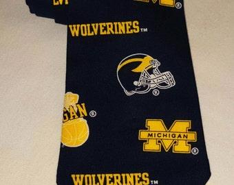 Wolverines Tie