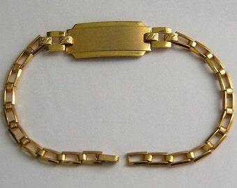 Small Vintage PEERLESS Ladies Mid Century ID Bracelet. NOS.