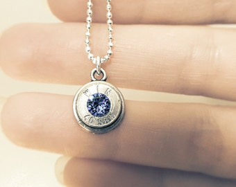 birthstone bullet necklace - southern bridesmaid wedding gift