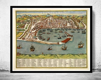 Antique messina map Etsy