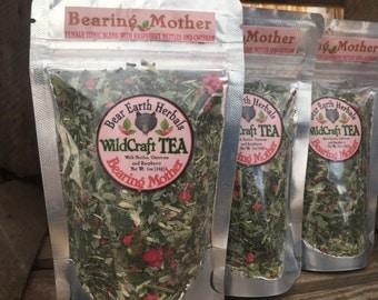Bearing Mother Tea- Nettles, Oatstraw, and Raspberry Leaf Tea - Organic - Wild Harvested - Decaffinated - female tonic