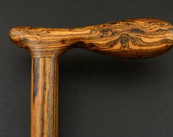 CANE Walking stick made from BOCOTE handmade wooden exotic hardwood #5