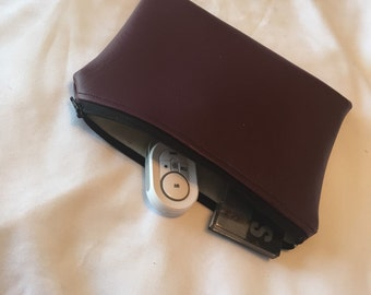 Burgundy Coin Purse| Make-Up Bag| Zip Pouch