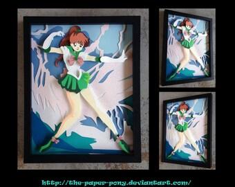 11x14 Sailor Jupiter Shadowbox