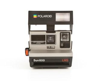 Polaroid Sun 600 LMS - Light Management System with original box - film Tested - Working 80s Polaroid 600