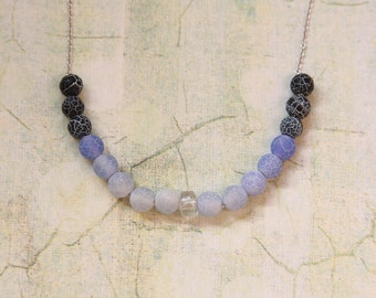 Blue Ombre Rock Necklace