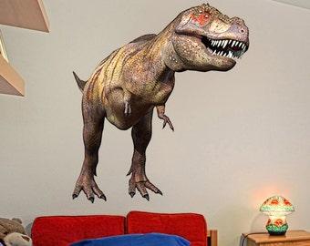 BIG TYRANNOSAURUS REX Dinosaur Wall Decal t-rex Kids bedroom wall decor removable and reusable vinyl wall decal