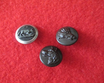 French hunting buttons