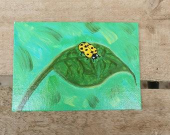 Ladybug Leaf Art
