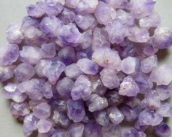 10pcs Natural Amethyst Druzy Cluster, Raw, Rough, Specimen