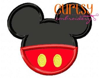 Mouse Embroidery Design, Mouse Applique Design, Boys Embroidery Design