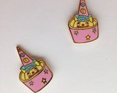 Ice Cream Clown Cone Enamel Pin