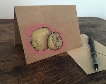 Lemon - Hand Drawn Greeting Card