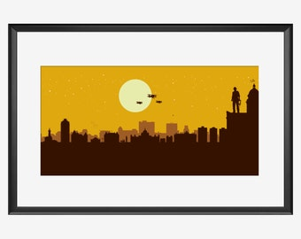 Victoria Skyline print, Victoria BC print, Victoria poster, Indiana Jones inspired Print, Indiana Jones print, Indiana Jones poster, nursery