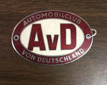 Automobile von Deutschland Car Badge