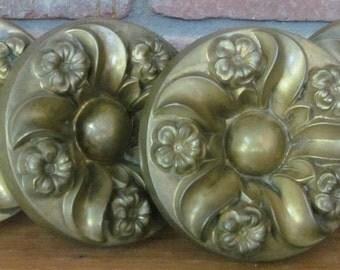 "FOUR c.1810-1830 Brass Large 5"" Curtain Tie Backs"