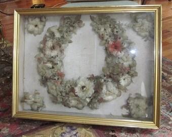 Victorian Feather Wreath Bridal Wreath Wedding Wreath MUSEUM QUALITY