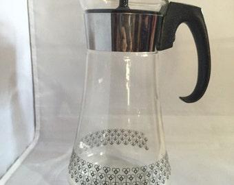 Pyrex Coffee Bee Design CARAFE Vintage Tea Pot Mid Century Modern / Atomic Age