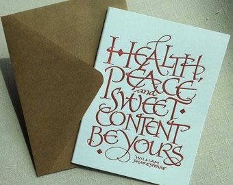 All Occasion Literary Letterpressed Calligraphic Greeting Card