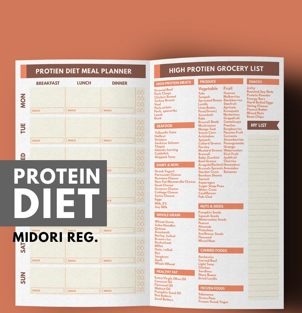Midori Meal Planner Weight Loss Planner Protein Diet Meal