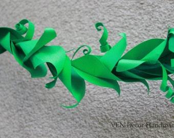 Green Leaf Garland, Rustic Wedding Party Garland, Wedding Arch Garland Arch decoration, Garland Greenery, Chair Garland, Bridal Shower Decor