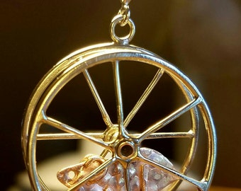Kinetic Hamster Wheel Pendant - Sterling Silver and Copper