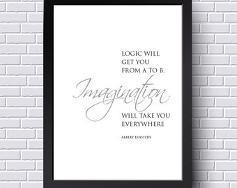 Logic will get you from A to B. Imagination will get you everywhere