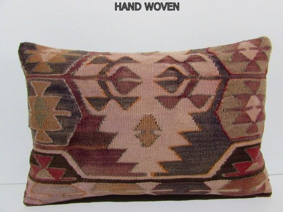 Kilim Lumbar Pillow 16x24 Outdoor Pillow By