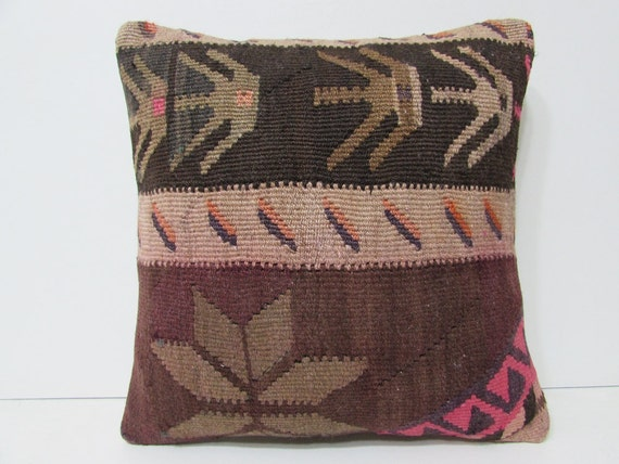Large Floor Pillow Cases : ethnic pillow case 18x18 floor cushion by DECOLICKILIMPILLOWS