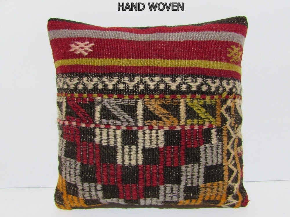 Outdoor Moroccan Floor Pillows : kilim pillow village moroccan floor cushion ethnic pillow