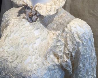 1930's LACE Wedding Dress size 0-2
