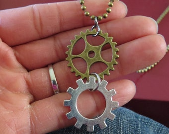 Steampunk Gears Necklace, Gears Necklace