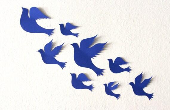 Articles similaires sticker mural oiseaux 3d d coration for Decoration murale oiseau