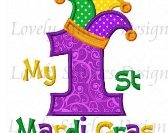 My 1st Mardi Gras Applique Machine Embroidery Design NO:0488