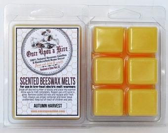 Autumn Harvest Beeswax Melts | 3 oz. | Natural | Melt-Warmers | Wax Melts | Scented