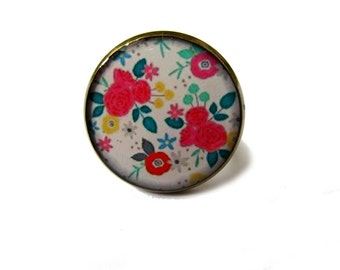 birthday gift - FLOWER RING - ROMANTIC ring - flower jewelry - Shabby Chic - Retro Flower - Vintage Flower Art - boho ring - boho jewelry