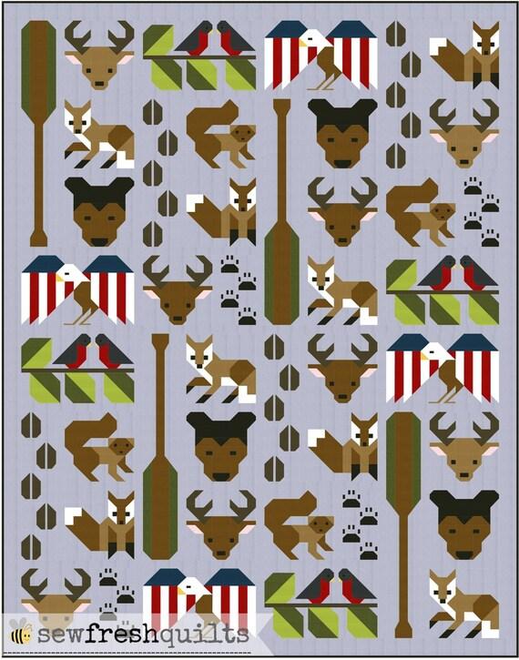 Forest Friends Quilt Pattern PDF Instant Download forest