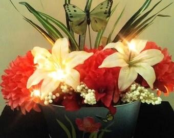 Tropical Summer (Lighted Flower Arrangement)