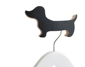 Dachsund Wall Hook Black