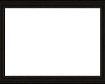 16x20 Small Beaded Lip Black Picture Frame